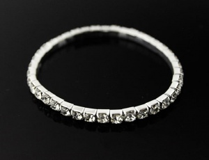 Bracelet 1 row, medium zirconia