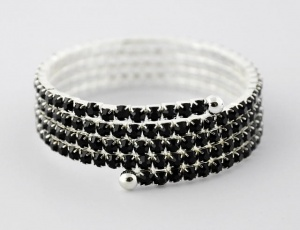 Bracelet 5 rows, medium zirconia