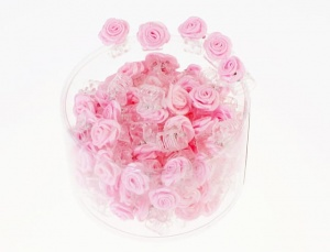 Mini claw clamp with rose (100 pcs)