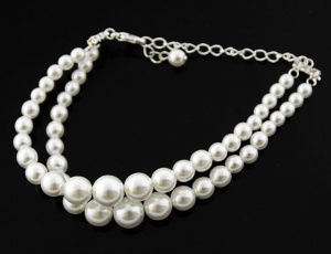 Bracelet pearl graded/twice