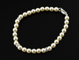 Bracelet pearl with ornaments 6 mm