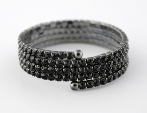 Bracelet 4 rows, medium zirconia