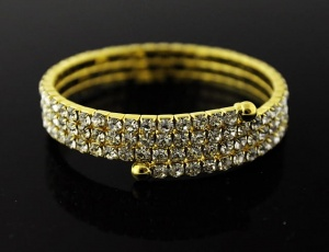 Bracelet 3 rows, medium zirconia