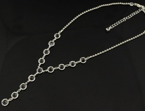 Glass necklace 7,5 mm