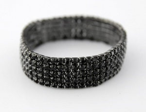 Bracelet 5 rows, small zirconia