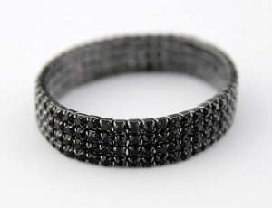 Bracelet 4 rows, small zirconia