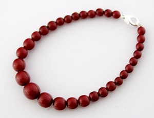 Bracelet red graded 5 mm