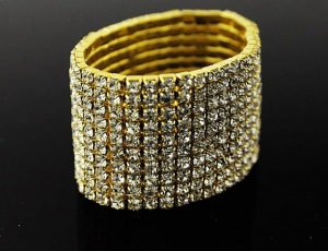 Bracelet 10 rows, medium zirconia