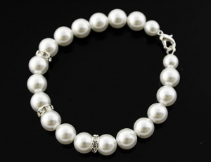 Bracelet pearl with ornaments 8 mm